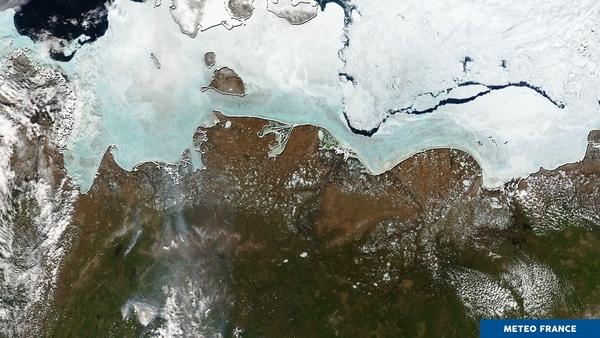 Glaces de mer, pergélisol et incendies de forêts en Sibérie