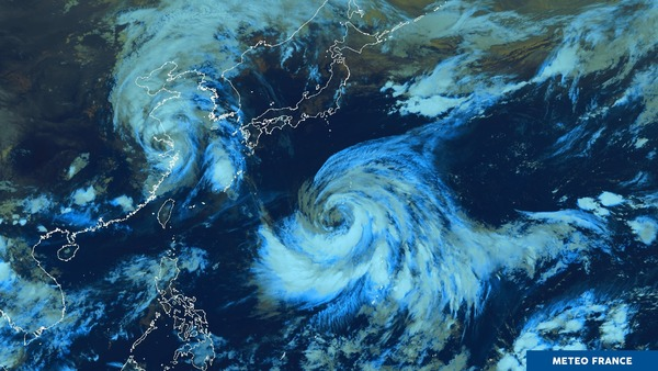 2 typhons formés dans l'Océan Pacifique nord