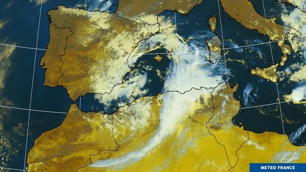 Situation orageuse sur l'ouest de la Méditerranée