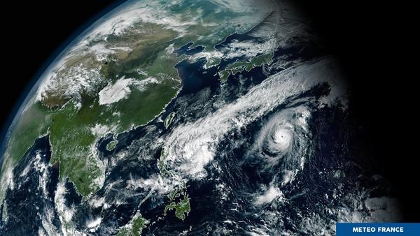 Agitation atmosphérique au nord de l'océan Pacifique