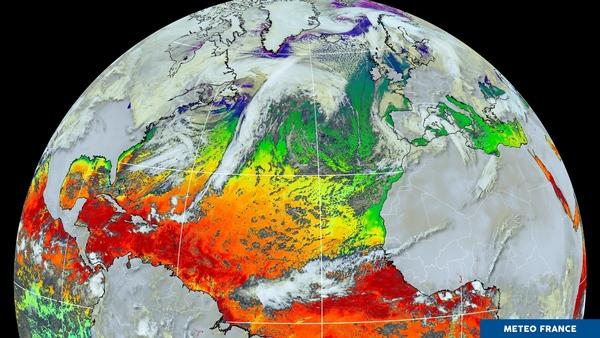 Une visualisation très colorée de la température des océans
