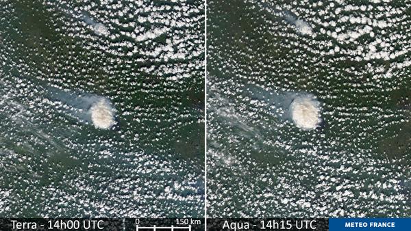 Courte évolution d'un étrange nuage au-dessus de la Sibérie