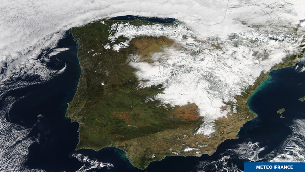 Neige et verglas en Espagne
