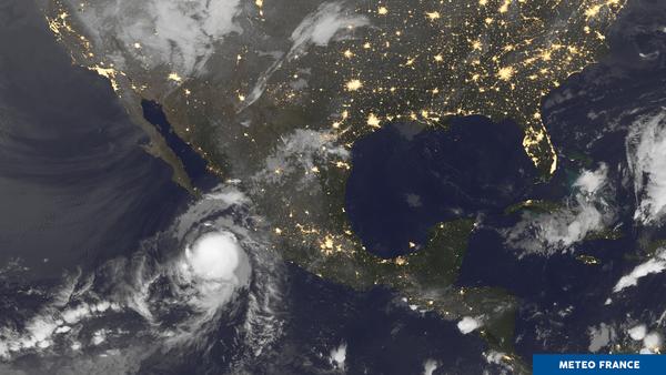Ouragan en approche des côtes du Mexique