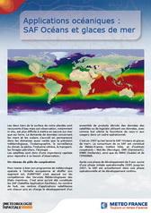 Applications océanographiques :<br/>  SAF océans et glaces de mer