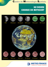 Les douze canaux de METEOSAT