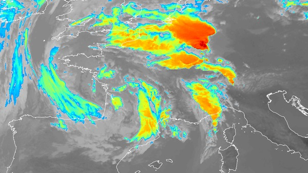 Image colorisée du canal infrarouge 10,8 µm